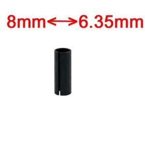adaptateur pour défonceuse de 6.35 mm à 8 mm